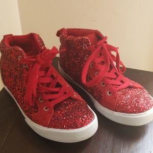 GAP Shoes - Red Glitter Gap Kids Sneakers